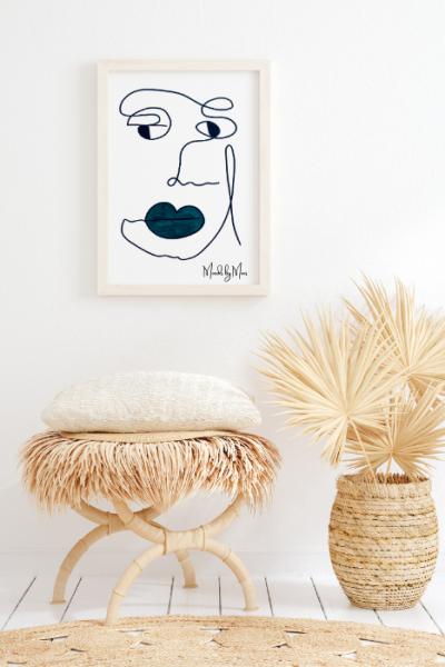 Kunst til stuen, minimalistiske plakater, abstrakte billeder, kunst med mennesker, kunstplakater, moderne kunst